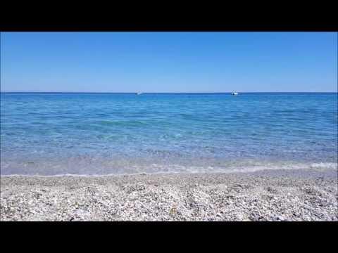 1 Hour of the Relaxing Waves of a Greek Beach | (Leptokarya, Pieria)