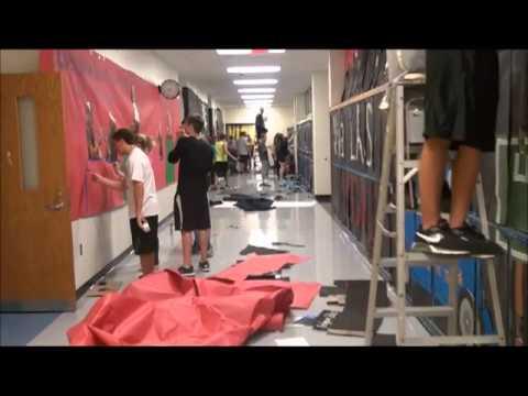 bridgeport high school ohio homecoming spirit week 2013 hallway