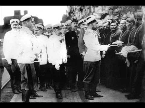 Слушать песню Военные песни - Марш Славянки (годы гражданской войны в России после революции 1917, песня белогвардейцев)