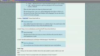 HTML W3C Tutorial Pt 2