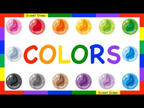Let's learn the colors/ colours!! Children Kids cartoon animation 色の名前を覚えよう子供向けアニメ♪お母さんと一緒に練習してね〜!