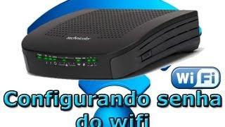 Como mudar senha do Wifi - Technicolor