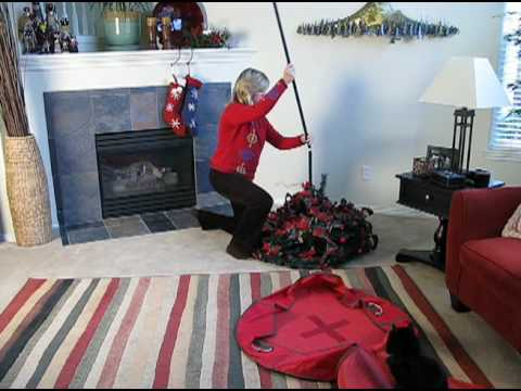 instant pull up christmas tree solutionscom youtube