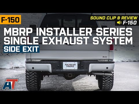 2009-2010 5.4L F-150 MBRP Installer Series Single Exhaust System - Side Exit Sound Clip & Review