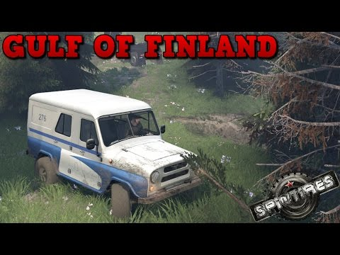 SpinTires | Gulf Of Finland | Map Mod | Uaz 469