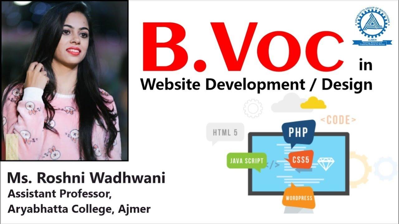 B.Voc in Website Development @ Aryabhatta College, Ajmer.