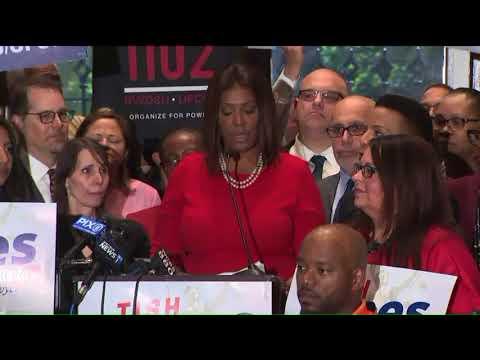 Public Advocate Letitia James announces run for NY attorney general
