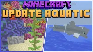Minecraft 1.14: Update Aquatic - Dolphins, Coral Reefs, Trident, New Water Physics, Biomes & More!