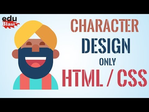 How To Design Cartoon Character With HTML/CSS