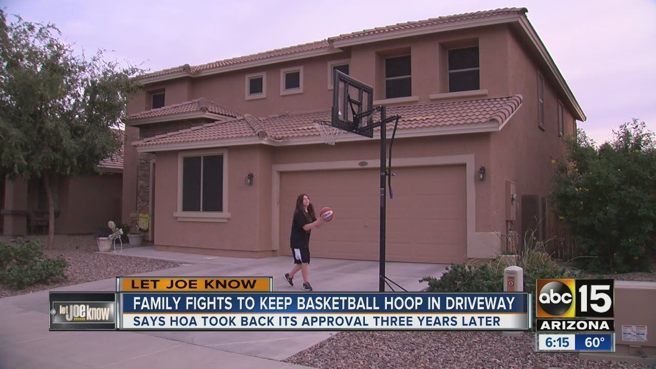 family fights to keep basketball hoop in driveway youtube