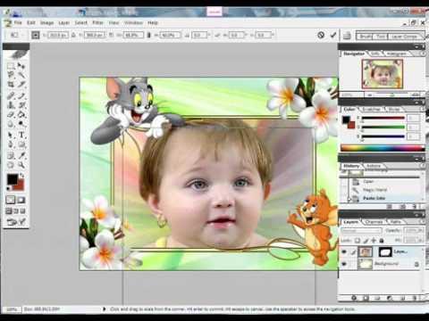 الفوتوشوب درس كيفية وضع الصورة في إطار جاهز