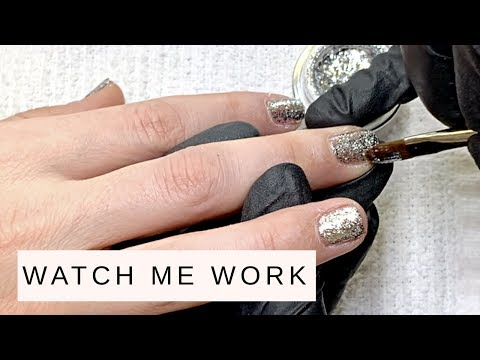 Full Manicure feat. AKZENTZ Gel Play White Gold Leaf (REAL TIME!)
