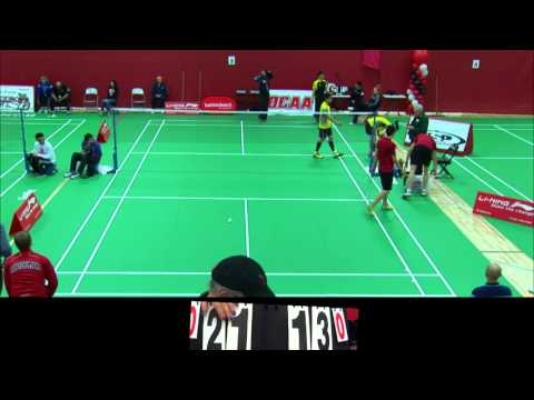 OCAA Ontario Provincial Badminton Championships 2016 - Gold/Silver match - mens doubles
