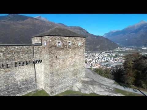 Castello Sasso Corbaro by drone (normal speed)