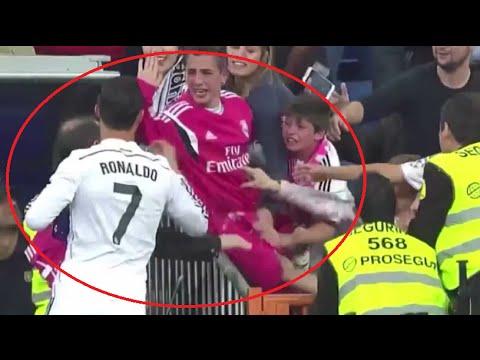 Gran gesto de Cristiano Ronaldo con un niño ● Great gesture of Cristiano Ronaldo with a child