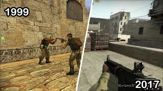Evolution of counter strike games - cs 1.6 ,cs 2017, Counter-Strike: Global Offensive , csgo,