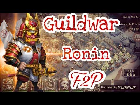 Guildwar - Ronin Bomb | 100% F2p Heroes  | Castle Clash