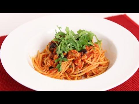 Spaghetti with Tuna Puttanesca Recipe - Laura Vitale - Laura in the Kitchen Episode 741