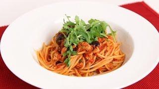 Spaghetti with Tuna Puttanesca Recipe
