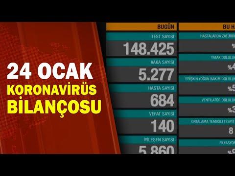 Türkiye'nin 24 Ocak Koronavirüs Tablosu / A Haber