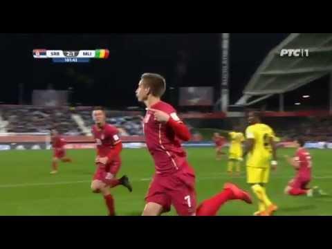 Srbija - Mali gol Šaponjić 101'