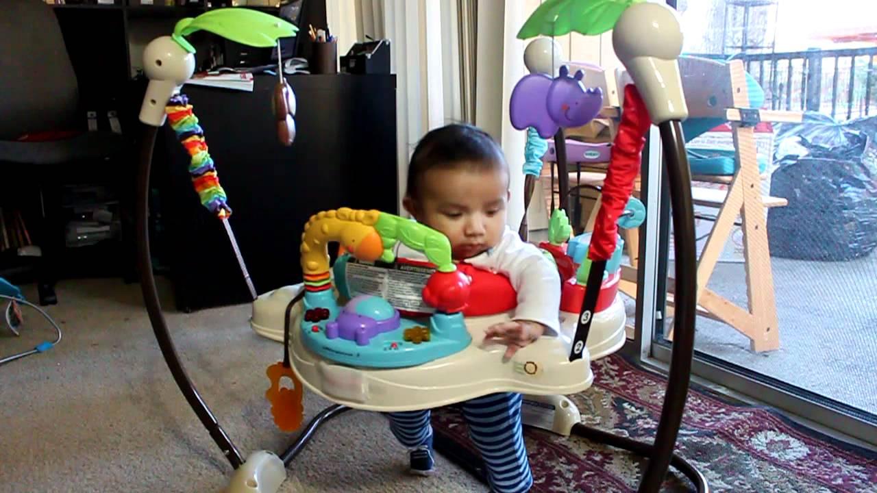 bebe de 4 meses y su silla saltarina youtube