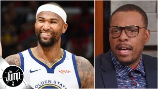 Boogie Cousins gets an 'A-plus-plus' for his Warriors debut - Paul Pierce | The Jump