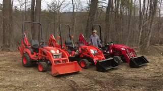 The Sub Compact Tractor Challenge - Mahindra Emax  vs. BX Kubota vs Kioti CS2210