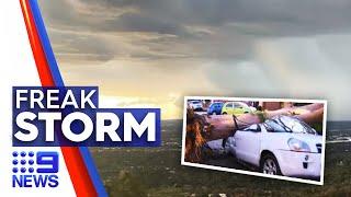 Freak storm wrecks havoc across Perth