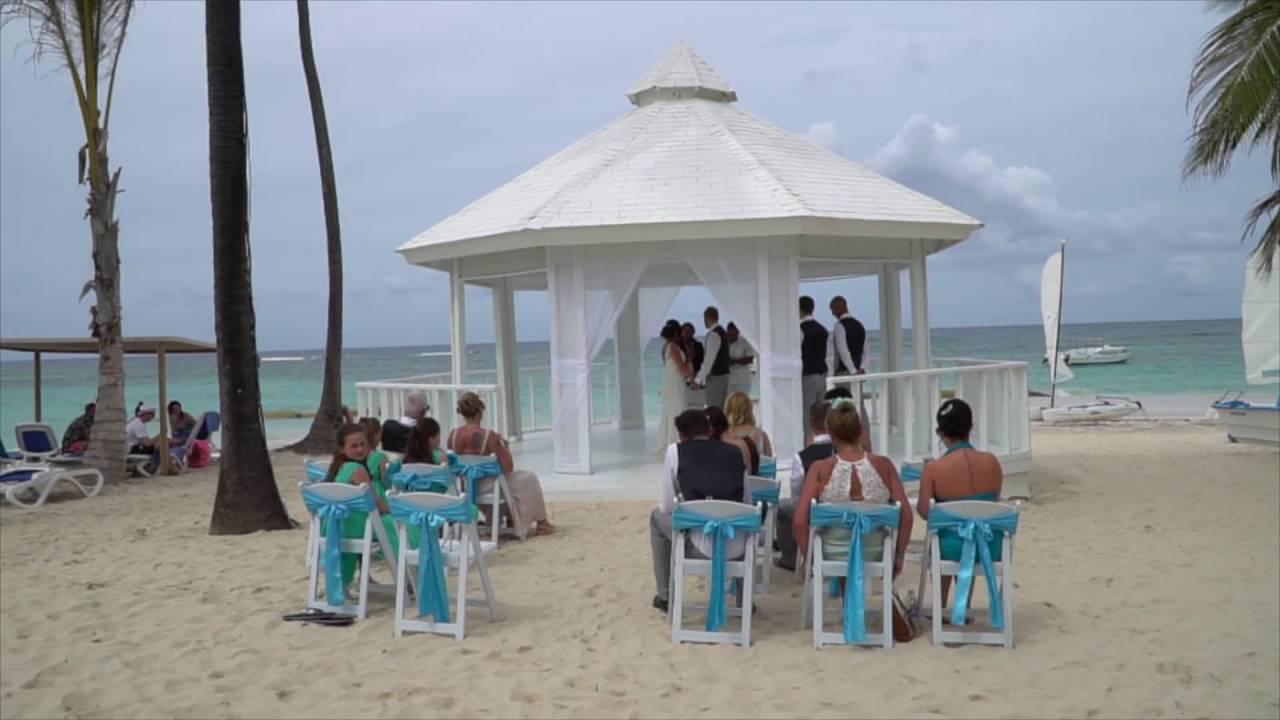 Lorelle Garry Miller S Wedding Ceremony In Ocean Blue Sand Beach Resort Punta Cana D R