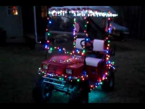 Decorated Golf Cart Christmas Lights | Decoratingspecial.com on christmas decorated cars, christmas clipart, christmas decorated golf course, christmas decorated doors, holiday decorated carts, christmas decorated wheelchairs, christmas floats, christmas decorated apartments, christmas decorated churches, christmas decorated wheels, christmas decorated buses, christmas decorated shoes,