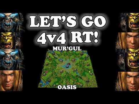 Grubby | Warcraft 3 TFT | 1.29 | HU+UD+UD+ORC v ORC+ORC+HU+HU on Mur'Gul Oasis - Let's Go 4v4 RT!