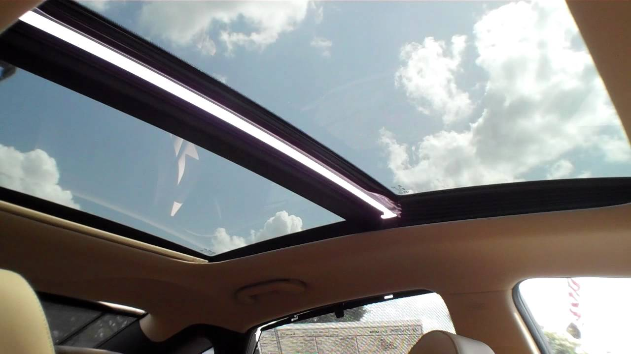 2012 Azera Panoramic Sunroof In Action Youtube