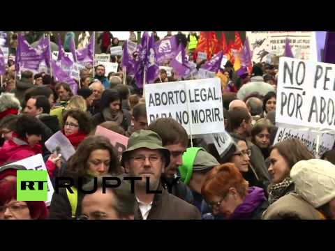 Spain: New abortion law sparks mass protest in Madrid
