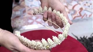 Corona para novia de pistilos