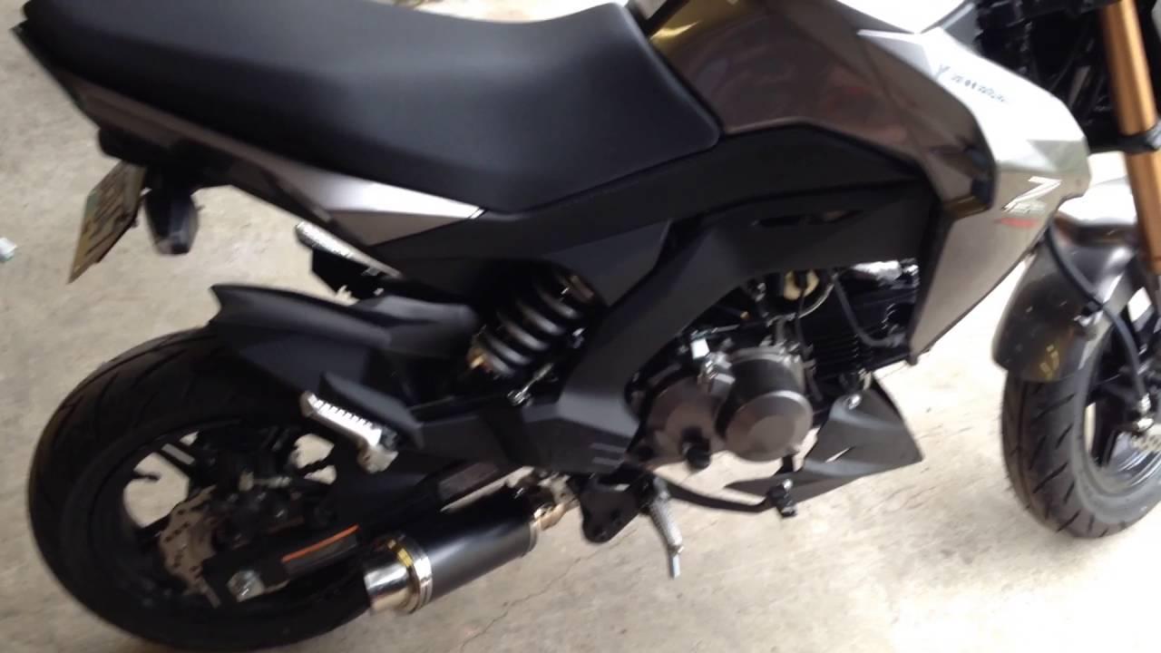 Kawasaki z125 pro diy Intake and dks exhaust