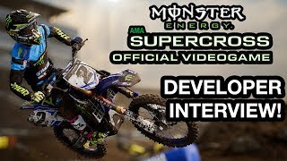 Racing with Monster Energy Supercross: The Official Videogame - Electric Playground Interview / Видео