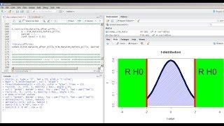 Learn Statistics using R: t-test