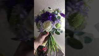 Свадебный букетик ) экстренный заказ за 1,5 дня до свадьбы!) эконом вариант