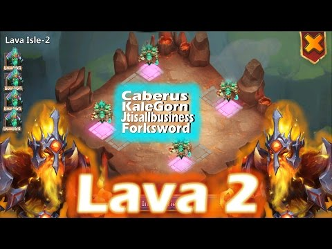 Beating LAVA 2 With 4 Phantom Kings Each Team Has One Castle Clash