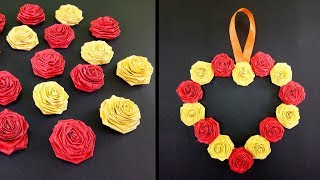 Paper Flower Wall Hanging | DIY Hanging Flower Craft | Wall Decoration Ideas