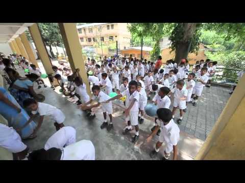 Kandy Dharmaraja College children dance practice