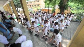 Kandy Dharmaraja College children dance practice