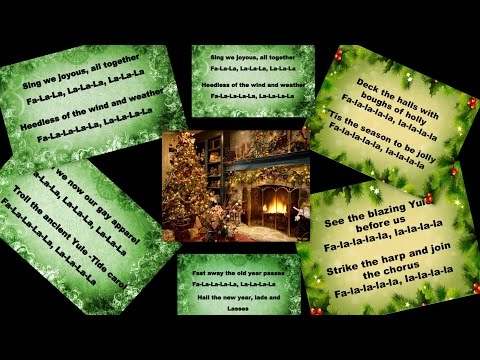 Deck the halls (Jazz Version)- Karaoke with lyrics (Royalty/Copyright free)