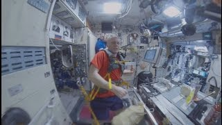 Space 360  Fitness in zero gravity at Intl Space Station