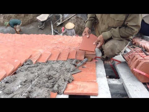 Amazing Construction Roof Sloping Tiles Terracotta Old House
