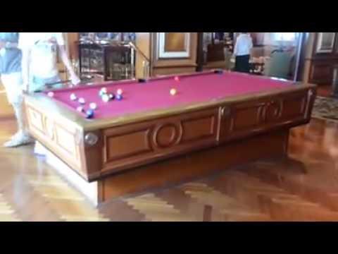 Comment une table de billard est stabilis e sur un bateau de croisi re youtube - Comment fabriquer une table de billard ...