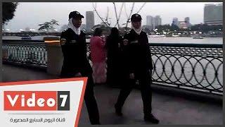 الشرطة النسائية تواجه التحرش على الكورنيش وكوبرى قصر النيل