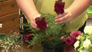 Floral Arrangements : How To Make A Dining Table Floral Arrangement