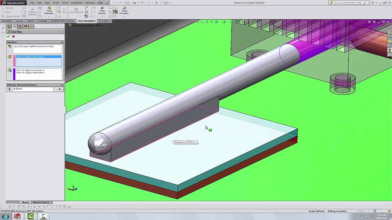 SOLIDWORKS - Flow Simulation, Using Heat Pipes